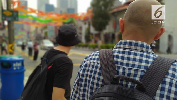 Mode bokeh menggunakan kamera Realme 5. (Liputan6.com/ Yuslianson)