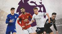 Premier League - Mason Mount, Bruno Fernandes, Kevin De Bruyne, Jack Grealish (Bola.com/Adreanus Titus)