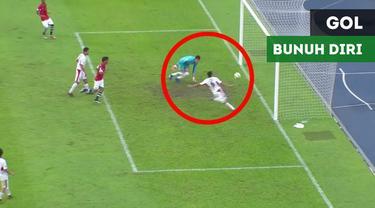 Berita video dua gol bunuh diri konyol tercipta dalam laga Yaman kontra Yordania pada Grup B Piala AFC U-16 2018, Kamis (27/9/2018).