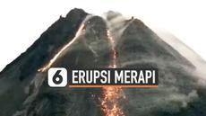 Aktivitas vulkanik Gunung Merapi masih tampak di kamera pemantau gunung berapi. Hingga Senin (1/3) dini hari lava pijar meluncur dari dua kubah gunung tersebut.