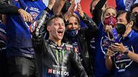Fabio Quartararo menjadi pembalap pertama Yamaha yang berhasil menjuarai MotoGP setelah enam tahun atau 2015. (AFP/Andreas Solaro)