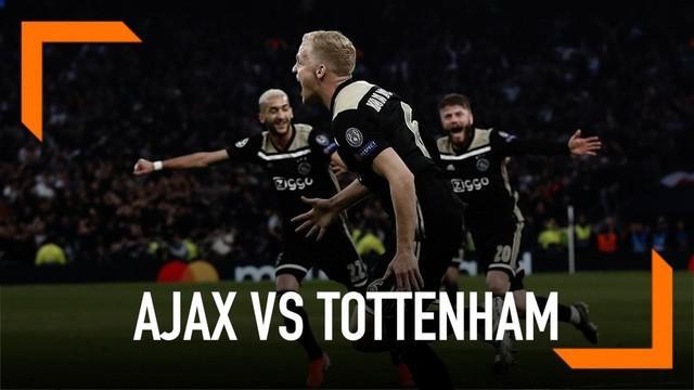 Ajax membungkam Tottenham Hotspur dengan skor tipis 1-0 pada leg pertama semifinal di Tottenham Hotspur Stadium, Rabu (1/5/2019) dini hari WIB.