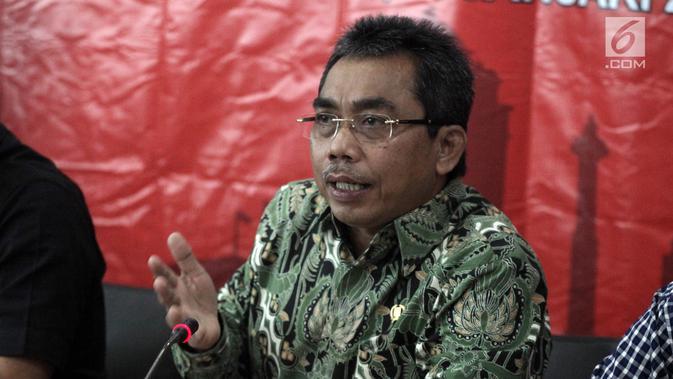 Ketua Fraksi PDI Perjuangan DPRD DKI Jakarta Gembong Warsono. (Liputan6.com/Arya Manggala)