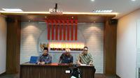 Ombudsman RI mengadakan pertemuan dengan Kompomnas mengenai penyidik KPK Novel Baswedan. (Liputan6.com/ Nanda Perdana Putra)