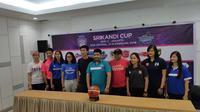 Para pemain dan pelatih tim peserta Srikandi Cup (Istimewa)