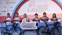 Balap sepeda Cyclothon yang berlangsung di Hongkong juga diikuti pesepeda Indonesia (www.hongkongfp.com)