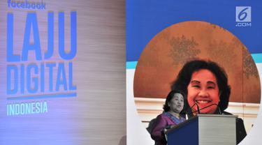Deputi Bidang Produksi dan Pemasaran Kemkop dan UKM Rosdiana Sipayung menjadi pembicara dalam peluncuran kampanye Laju Digital Facebook di Jakarta, Selasa (14/8). Kampanye membantu UKM mengembangkan bisnisnya secara online. (Merdeka.com/Iqbal S. Nugroho)