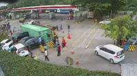 Kecelakan Truk Kontainer di Rest Area Tol Cipularang, 7 Mobil Rusak (Doc : Jasa Marga)