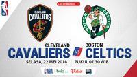 Jadwal NBA, Cleveland Cavaliers Vs Boston Celtics. (Bola.com/Dody Iryawan)