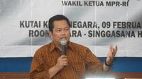 Mahyudin menjadi pembicara di Seminar Empat Pilar MPR-RI di Universitas Kutai Kartanegara.
