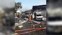 Gudang amunisi di Mako Brimob Srondol, Semarang meledak. (Istimewa)