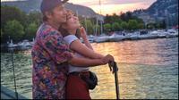 Gading Marten dan Gisel saat liburan bersama ke Danau Como, Italia, pada Juni 2018 lalu (Dok. Instagram/@gadiiing/https://www.instagram.com/p/BkWwPSjnNNx/Komarudin)