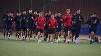 Timnas Indonesia U-23 sedang berlatih di Tajikistan. (PSSI).