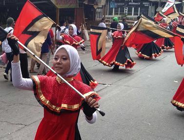 Kemeriahan Pawai Taaruf MTQ Tangerang Selatan