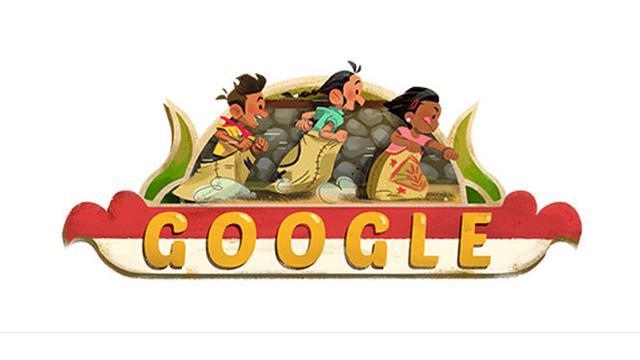 Google Doodle Rayakan Hut Ke 73 Ri Ilustrasi Lomba Balap Karung Tampil Tekno Liputan6 Com