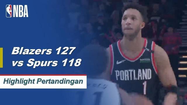 CJ McCollum turun 30 poin dan meraih sembilan rebound saat Portland mengambil kemenangan di kandang melawan San Antonio.