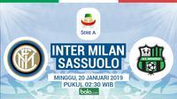 Serie A: Inter Milan Vs Sassuolo (Bola.com/Adreanus Titus)