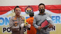Debt Collector di Kebumen ditangkap polisi karena menyimpan dan konsumsi sabu. (Foto: Liputan6.com/Humas Polres Kebumen)