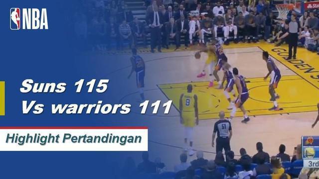 Devin Booker mendapat skor 37 saat matahari terbit kemenangan atas Warriors 115-111.