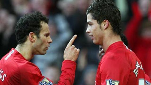 Ryan Giggs & Cristiano Ronaldo (© AFP 2008)