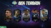Liga 1 Bek Terbaik 2018 (Bola.com/Adreanus Titus)