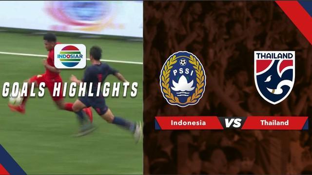 Berita video momen gol-gol yang tercipta pada laga Timnas Indonesia U-23 melawan Thailand di Merlion Cup 2019, Jumat (7/6/2019).