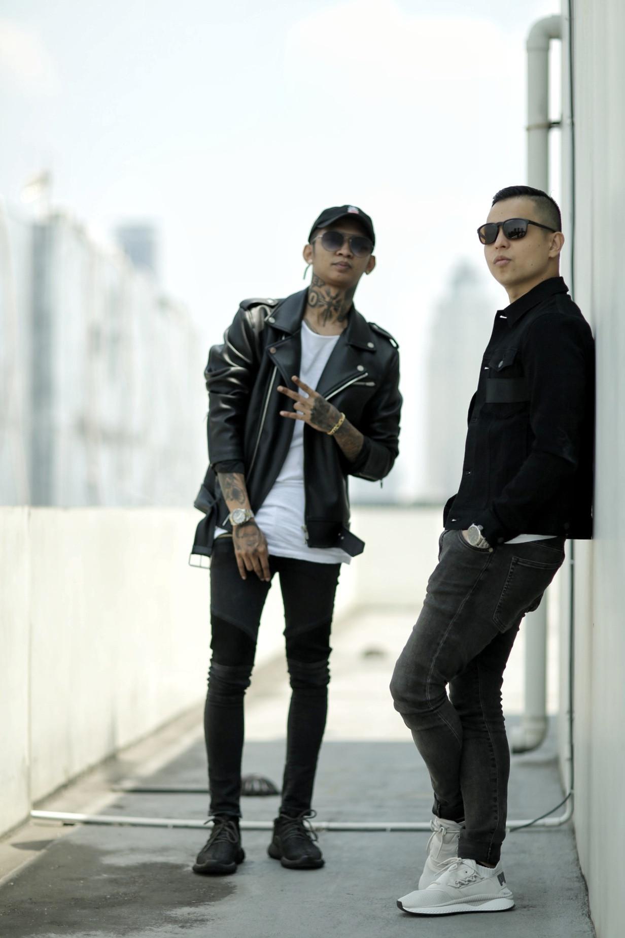Young Lex dan Ernest Prakasa. (Adrian Putra/Bintang.com)