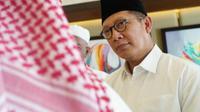 Menteri Agama Lukman Hakim Saifuddin meminta jemaah haji tidak berpolitik. (Dream)