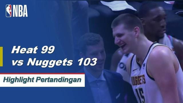 Nikola Jokic menendang keranjang kemenangan permainan dengan dua detik tersisa saat Nuggets menang untuk keenam kalinya dalam tujuh pertandingan.