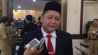 Ketua DPC PDIP Kota Surabaya, Whisnu Sakti Buana. (Liputan6.com/Dian Kurniawan)