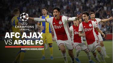 Berita video highlights leg II playoffs Liga Champions 2019-2020 antara Ajax melawan APOEL yang berakhir dengan skor 2-0, Rabu (28/8/2019).