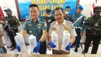 Tim gabungan TNI AL berhasil menggagalkan penyelundupan benur atau benih lobster ke Singapura melalui Jambi senilai lebih dari Rp17 miliar. (Liputan6.com/ Yandhi Deslatama)