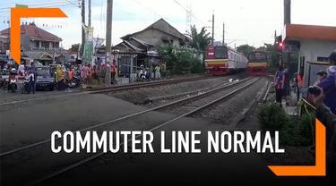 Setelah anjlok, KRL Jakarta-Bogor dan sebaliknya sudah normal kedua jalurnya.