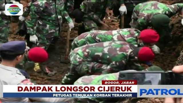 Penemuan jasad Adit menandakan berakhirnya pencarian kelima korban longsor di Cijeruk, Sukabumi, Jawa Barat.