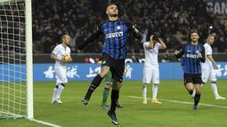 2. Mauro Icardi (Inter Milan) - 13 Gol (4 Penalti). (AFP/Miguel Medina)