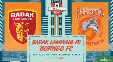 Badak Lampung FC vs Borneo FC