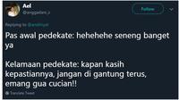 Beda awal PDKT vs Lama PDKT (Sumber: Twitter/anggadani_s)