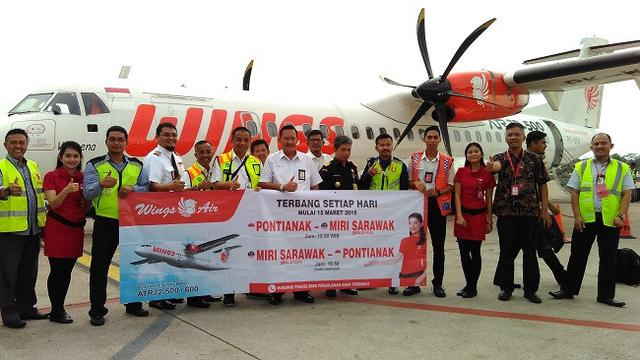 Wings Air Buka Rute Baru Pontianak Miri Serawak Harga Tiket Rp 700
