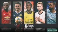 Kolase - Premier League (Paul Pogba, John McGinn, Eddie Nketiah, Harry Kane, Ruben Loftus-Cheek) (Bola.com/Adreanus Titus)