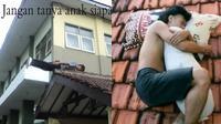 6 Kelakuan Orang Tidur di Atas Atap Rumah Ini Nyeleneh Banget (sumber: 1cak)