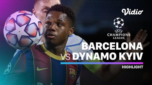 Berita video highlights Liga Champions, Barcelona menang 2-1 lawan Dynamo Kiev, Kamis dini hari (5/11/20).