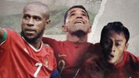 Boaz Solossa, Alberto Goncalves dan Samsul Arif. (Bola.com/Dody Iryawan)