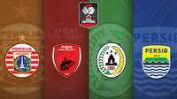 Piala Menpora - Ilustrasi Logo Tim Ke Semifinal (Bola.com/Adreanus Titus)