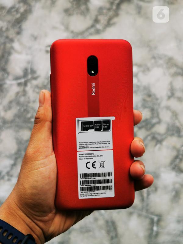 Xiaomi Redmi 8A - Bodi Belakang. Liputan6.com/Mochamad Wahyu Hidayat