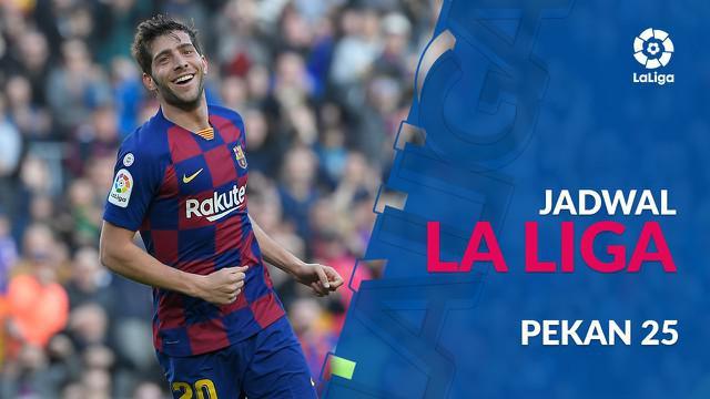 Berita video jadwal La Liga 2019-2020 pekan ke-25. Barcelona hadapi Eibar, Sabtu (22/2/2020) di Camp Nou, Barcelona.