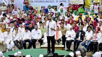 Capres nomor urut 01 Joko Widodo kampanye terbuka di Probolinggo, Jawa Timur