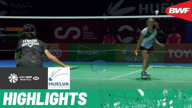Berita video highlights final tunggal putri Spain Masters 2021, di mana wakil dari Indonesia, Putri Kusuma Wardani, menaklukkan pebulu tangkis Denmark, Line Christophersen, Minggu (23/5/2021).