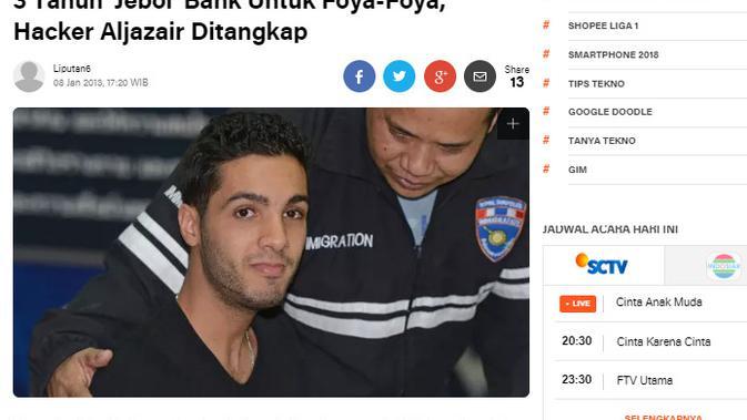 [Cek Fakta] Eksekusi Hacker Aljazair yang Bobol Bank Israel demi Warga Palestina? (Liputan6.com)