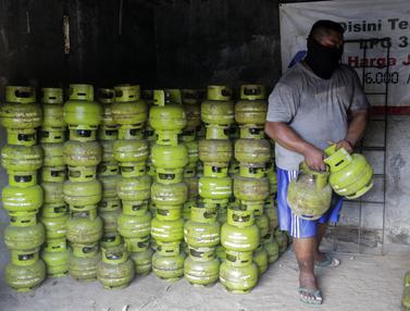 FOTO: Stok Elpiji 3 Kilogram Aman hingga Seminggu Setelah Idul Fitri