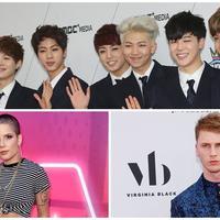 BTS, Halsey, dan Machine Gun Kelly (AFP/Bintang.com)